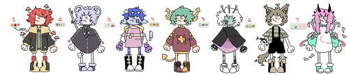 (CLOSED AUCTION) - emoji adopts p3 by ReeAdopts