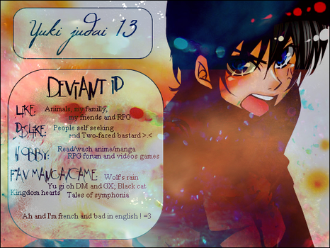 Deviant art ID 3 by YukiJudai13