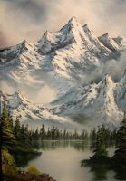 Mountain Lake by ChrisBeckerArt