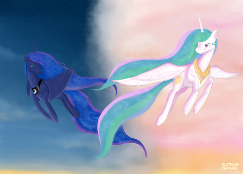 Dawn and Dusk (speedpaint) by PlatinumFeather2002