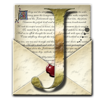 Steampunk J Open Envelope Icon by yereverluvinuncleber