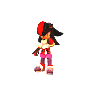 Shadilina The Hedgehog(Friend's Genderbend) Render by chuck123emma