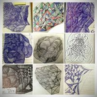 Collage of doodles