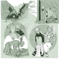 Roan and Gerudo Sketches by Split-Heart