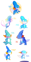 Mudkip Variations (now available in store)
