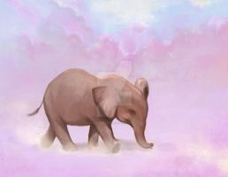 Baby elephant's joy by lilythescorpio