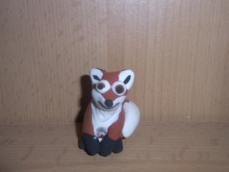 Funny Fox, modeling clay sculpture by ArcticIceWolf