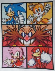 Sonic Characters Cross Stitch by prophet1991