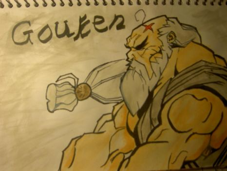 Street Fighter Gouken by quakesshakes