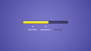 VIBRANT SECTIONAL PROGRESS BAR by FreePSDDownload