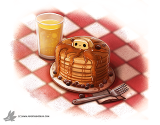 Day 828. I really want to make some pancakes by Cryptid-Creations