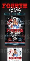 Fourth of July Party Flyer Template by AnotherBcreation