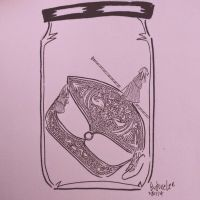 wau bulan in a jam jar by budoxesquire
