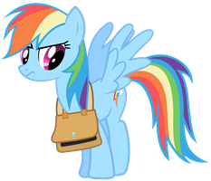 Rainbow Dash Vector - *sigh* Back To School... by Anxet