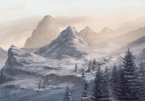 Morning in mountains by NoinHvainHtain