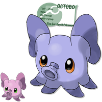 cute little elephant by G-FauxPokemon