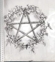 Pentacle with Ivy by edax