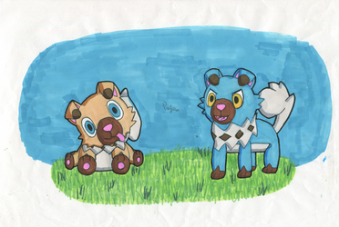 Rockruff (Wuffels) Duo by Tails--the--Fox