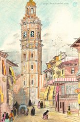 Valencia (Year 1850) - Tower of Santa Catalina by Fractalico