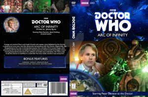 Dr Who - Arc of Infinity DVD Cover classic logo