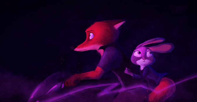 Ride in the Night - Zootopia by SprinKah