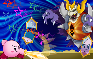 Kirby vs Dark Mind by PattiethePentist