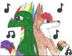 wolf 128 and stradus dancing by thisistheonlyme