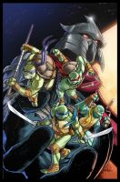 TMNT#47 variant cover by Claudia-SG