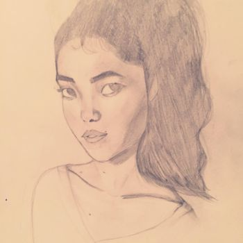 Asian woman face study by LeahStars8