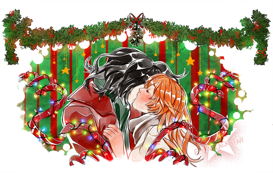 Mistletoe kiss by ElyonBlackStar