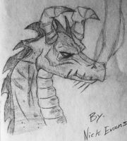 Old Dragon Drawing by eon54