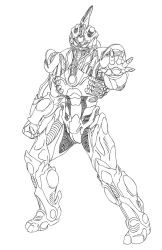Prometheus Guyver Line Art by rhardo