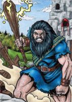 The Dagda Sketch Card - Tony Perna by Pernastudios