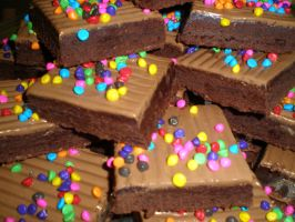 Brownies with Rainbow Bits by amysalmon