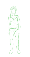 A shot at female body shape by Keilanify