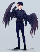 Jin with wings by Noquelle