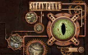 Steampunk Wallpaper by CatherinetteRings