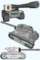 Meccano Light Tank Cel Renders by FarawayPictures