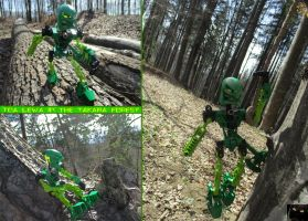 Toa Lewa In The Takara Forest by Trimondius01