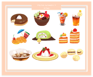 Cute Food PNG Pack by SweetIvi