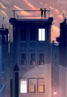 We met on the rooftop. by PascalCampion