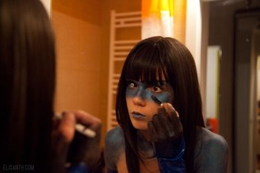 Blue behind the scene by Elisanth