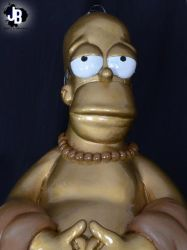 Homero Simpson Buda by JBerlyart