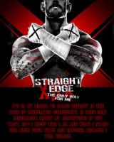 CM-Punk Straight-Edge WWE 13 poster by IGMAN51