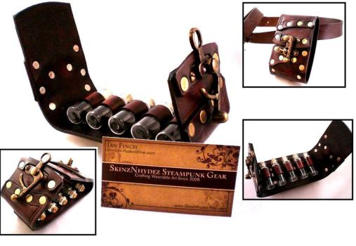 Steampunk Vial Holster the 2nd by Skinz-N-Hydez