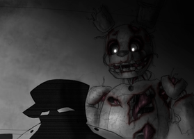 Charles Phone Guy and Springtrap by Inverted-Mind-Inc