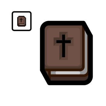 Vectorized Isaac #56: The Bible by giftedscholar