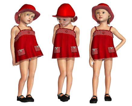 Red Dress PNG Stock by Roy3D