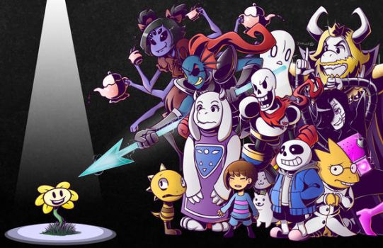 Undertale - Everyone Vs. Flowey by kentaropjj