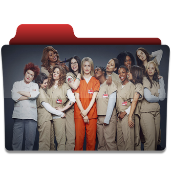 Orange is the new black folder icon v2 by PanosEnglish